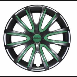 Žali ratų gaubtų intarpai R14 (24 vnt. + 4 dangteliai)