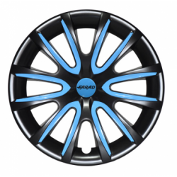 Mėlyni ratų gaubtų intarpai R16 (24 vnt. + 4 dangteliai)