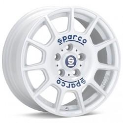 SPARCO TERRA WHITE BLUE LETTERING
